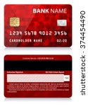 credit card with abstract... | Shutterstock .eps vector #374454490