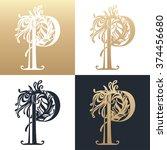 calligraphic design element.... | Shutterstock .eps vector #374456680