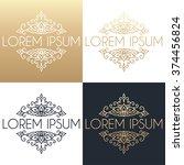calligraphic design element.... | Shutterstock .eps vector #374456824