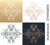 calligraphic design element....   Shutterstock .eps vector #374456854