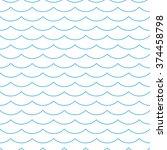 wave blue pattern. sea... | Shutterstock .eps vector #374458798