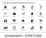 business icons and symbols of... | Shutterstock .eps vector #374472184