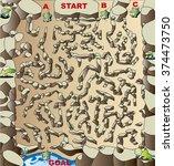 turtle maze | Shutterstock .eps vector #374473750