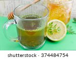 tea with parsley  lemon and... | Shutterstock . vector #374484754