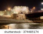 long exposure of fortress of... | Shutterstock . vector #374485174