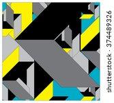 geometric pattern vector... | Shutterstock .eps vector #374489326