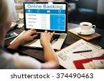 online banking technology... | Shutterstock . vector #374490463