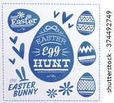 Happy Easter Design Elements....