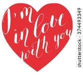 vector romantic heart with...   Shutterstock .eps vector #374493349