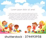 playground. template for... | Shutterstock .eps vector #374493958