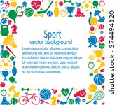 sports background. sports icon... | Shutterstock .eps vector #374494120