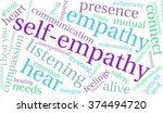 self empathy word cloud on a... | Shutterstock .eps vector #374494720