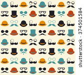seamless vector pattern with... | Shutterstock .eps vector #374501584