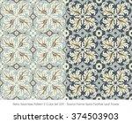 retro seamless pattern 2 color...   Shutterstock .eps vector #374503903