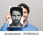 conceptual image of a man... | Shutterstock . vector #374504413