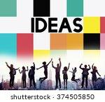 business people achievement...   Shutterstock . vector #374505850
