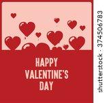 happy valentines day  flying... | Shutterstock .eps vector #374506783