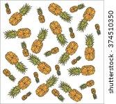 vector background  fruit... | Shutterstock .eps vector #374510350