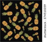 vector background  fruit... | Shutterstock .eps vector #374510359