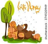 love sweet honey concept.... | Shutterstock .eps vector #374520949