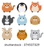 vector illustration of cute... | Shutterstock .eps vector #374537329