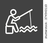 fishing | Shutterstock .eps vector #374543110