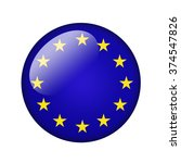 the european union flag. round... | Shutterstock . vector #374547826