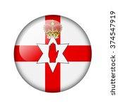 flag of northern ireland. round ... | Shutterstock . vector #374547919