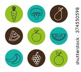 healthy food design  | Shutterstock .eps vector #374550598