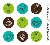 healthy food design  | Shutterstock .eps vector #374550598