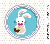 happy easter design    Shutterstock .eps vector #374552779