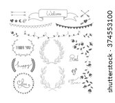 hand drawn words decorative... | Shutterstock .eps vector #374553100