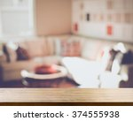 blurred living room with... | Shutterstock . vector #374555938