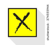 x symbol  rejected mark icon...