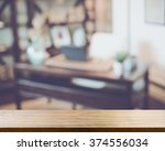 blurred office with computer... | Shutterstock . vector #374556034