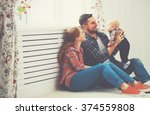 happy family mother and father... | Shutterstock . vector #374559808