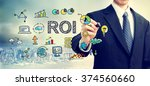 Businessman Drawing Roi Concept ...