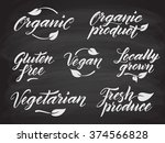 hand drawn healthy food... | Shutterstock .eps vector #374566828