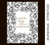 vintage delicate invitation...   Shutterstock .eps vector #374567110