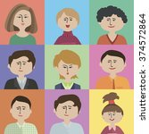 colored flat characters | Shutterstock .eps vector #374572864