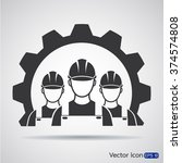 industrial workers icon | Shutterstock .eps vector #374574808