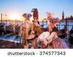 famous carnival in venice  italy | Shutterstock . vector #374577343