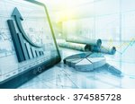 economical stock market graph | Shutterstock . vector #374585728