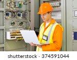 experienced industrial engineer ...   Shutterstock . vector #374591044