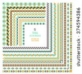 vector tribal aztec pattern... | Shutterstock .eps vector #374594386