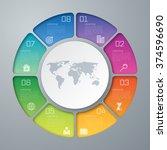 template for presentation.... | Shutterstock .eps vector #374596690