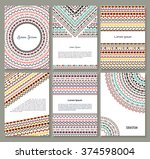 vector tribal aztec banners.... | Shutterstock .eps vector #374598004