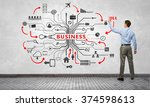 businessman presenting his ideas | Shutterstock . vector #374598613