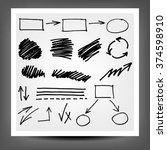 highlighter elements  hand... | Shutterstock . vector #374598910