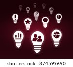 various interface icons | Shutterstock . vector #374599690